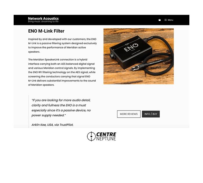 Network Acoustics   Website by Centre Neptune